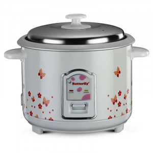 Butterfly 1.8 L Blossom Electric Rice Cooker(White)
