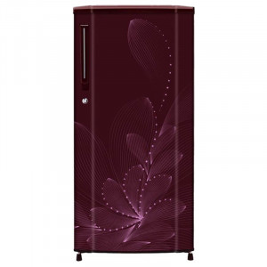 Haier 190 L 3 Star HRD-1903BRO-R/E Direct Cool Single Door Refrigerator (Red Ornate)