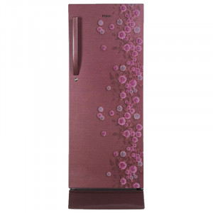 Haier 195 L 5 Star HRD-1954PRL-E Single Door Refrigerator (Red Liana)