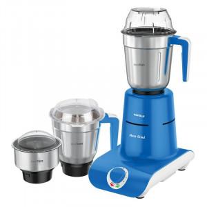 Havells Maxx Grind 750-Watt Mixer Grinder (Blue, 3 Jars )