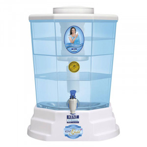 Kent Gold Plus 20 L Gravity Based Water Purifier  (White & Blue)