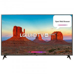 LG 109.3 cm (43 inches) 43UK6360PTE 4K LED Smart Television (Black)