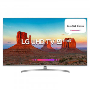 LG 139.7 cm (55 inches) 55UK7500PTA 4K LED Smart Television (Silver)