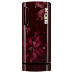 LG 190 L 3 Star GL-D201ASAW.ASAZEBN Direct-Cool Single Door Refrigerator (Scarlet Aster)