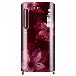 LG 190 L 4 Star GL B201ASOX.ASOZEBN Direct Cool Single Door Refrigerator (Scarlet Orchid)