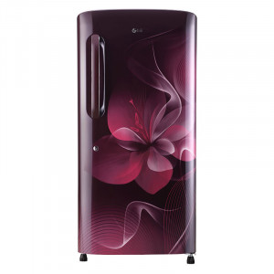 LG 215 GL-B221ASDX 4 Star Single Door Refrigerator (Scarlet Dazzle)