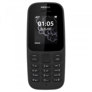 Nokia 105 Black,Blue Dual Sim Touchpad Phone