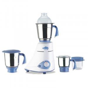Preethi Blue Leaf Silver Mixer Grinder(White, 3 Jars)