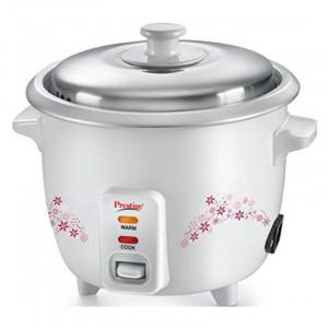 Prestige 1.0 L Delight PRWO Electric Rice Cooker (White)
