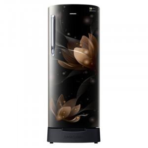 Samsung 192 L RR20N182XB8/HL 4 Star Direct Cool   Single Door Refrigerator(Blooming Saffron Black)