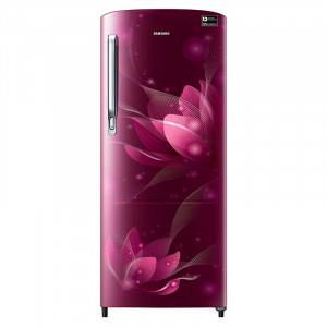 Samsung 192 L RR20N272YR8/NL/RR20N172YR8/HL 4 Star Direct-Cool Single-Door Refrigerator (Blooming Saffron Red)