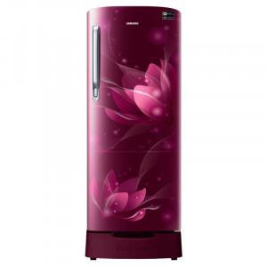 Samsung 212 L RR22N385XR8/HL 5 Star Direct Cool Single Door  Refrigerator(Blooming Saffron Red)