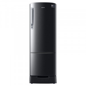 Samsung 255 L RR26N389ZBS/HL 255 L INV 3 Star Direct Cool Single Door Refrigerator (Black)
