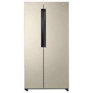 Samsung 674 L RS62K6007FG/TL Frost Free Side-by-Side Refrigerator (Stary Gold)