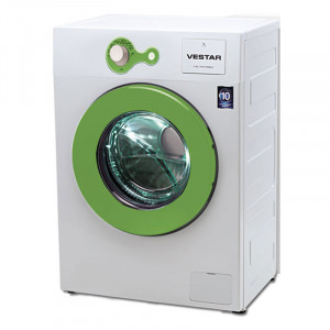 Vestar  6 kg  VWTFL60QBWGN Fully Automatic Front Loading Washing Machine  (White & Green)