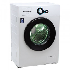 Vestar  6 kg  VWTFL60QBWW Fully Automatic Front Loading Washing Machine (White & Black)