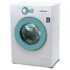 Vestar VWTFL60QBWBL Front Loading Washing Machine (White & Sky Blue)