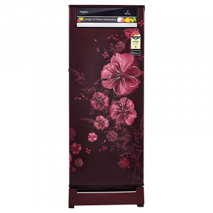 Whirlpool 215 L 4 Star 230 Vitamagic Roy 4S Direct-Cool Single-Door Refrigerator (Wine Dahli)