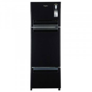 Whirlpool 240 L FP 263D PROTTON ROY FROST FREE Triple Door Refrigerator (Caviar Black)