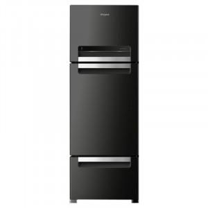 Whirlpool Protton 260 L FP 283D PROTTON ROY Three Door Frost Free Refrigerator (Caviar Black)